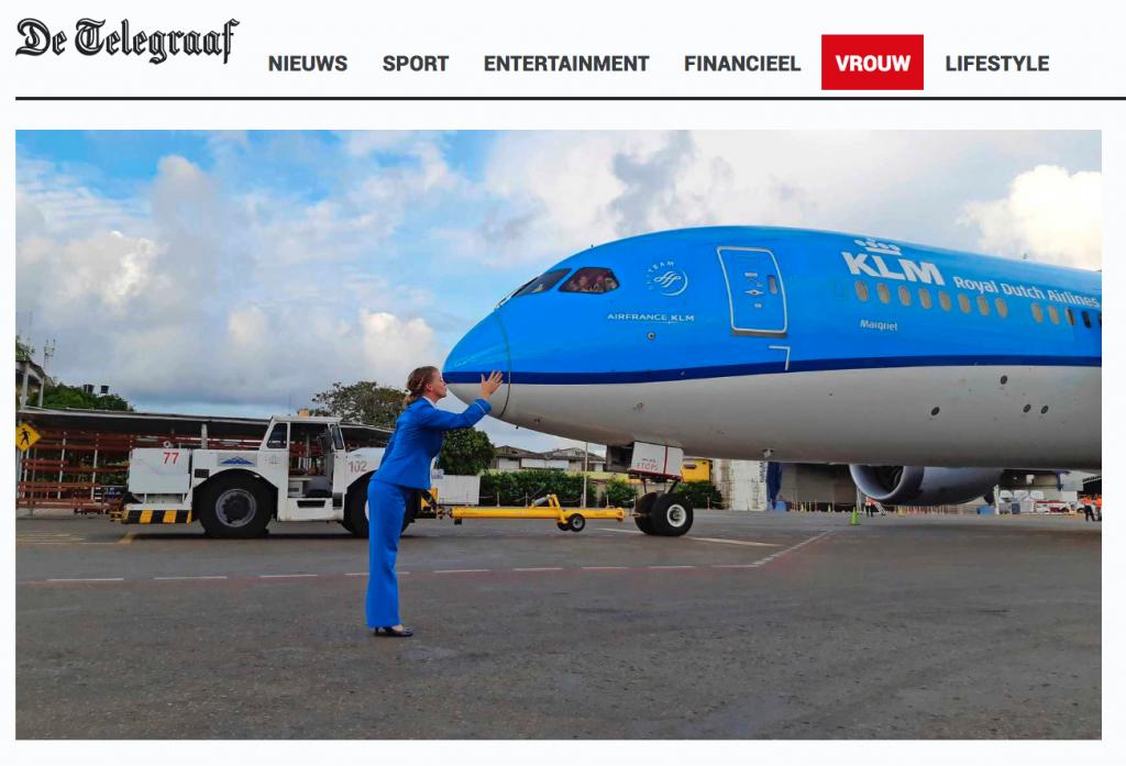 Telegraaf vrouw Renske Dragt nam noodgedwongen afscheid van KLM: 'Wie ben ik zonder mijn blauwe uniform?'